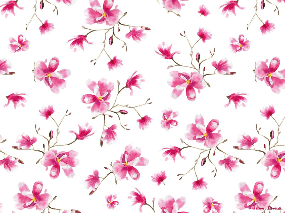 """Magnolia in Bloom"" Adama  Rug"