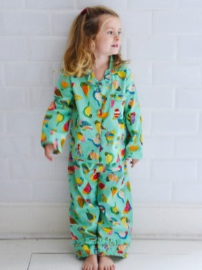 Tropical Bird Pajamas, 4-5 years