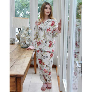Red & Pink Rose Floral Pajamas