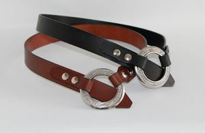 Leather Slouch Belt