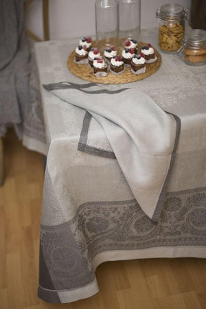 Gramercy Linen Tablecloth, Castor Grey