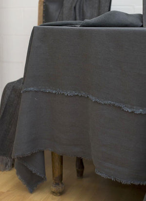 Bilbao Linen Tablecloth, Grey