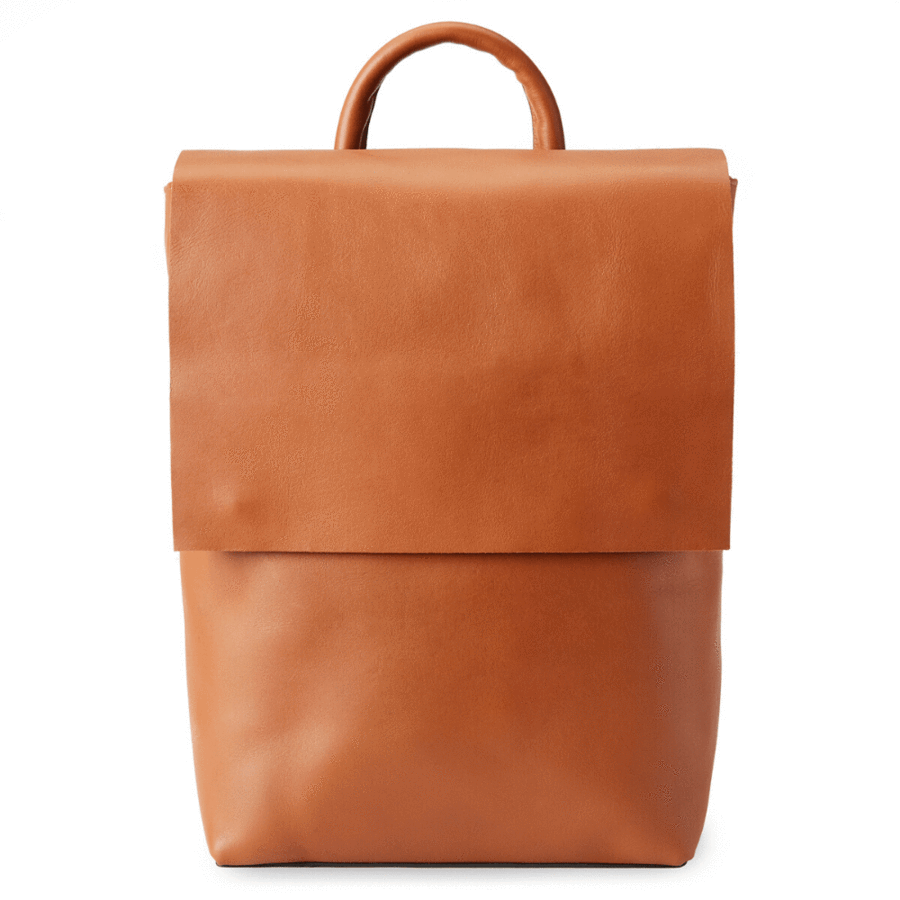 Camino Leather Backpack, Caramel