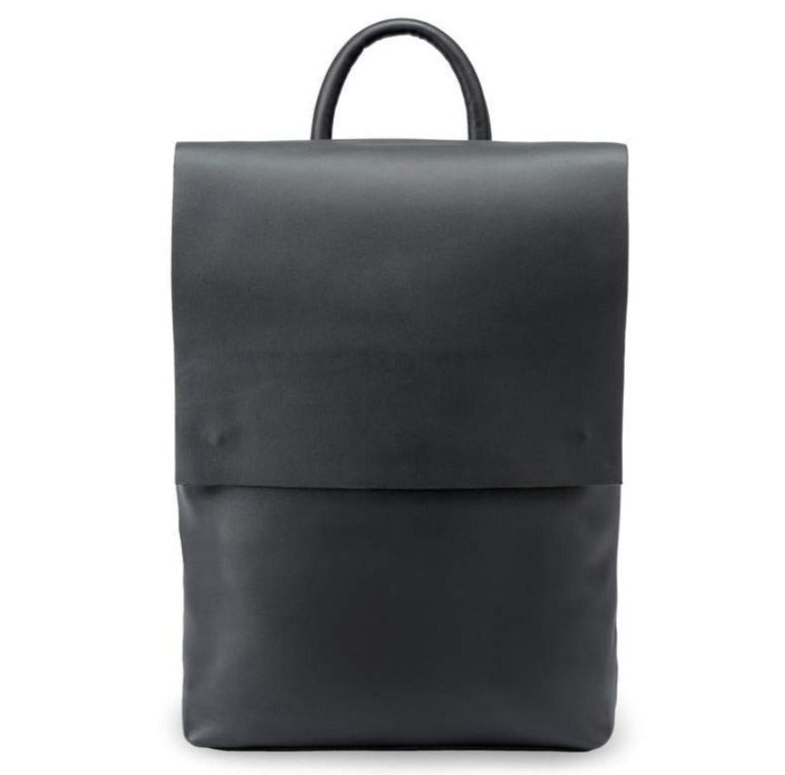 Camino Leather Backpack, Smooth Black