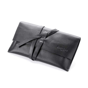 Sandra Leather Clutch/Wallet, Classic Black