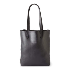 Florence Handmade Leather Tote, Smooth Black
