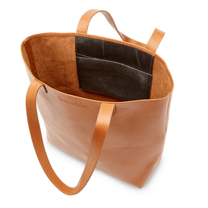 Florence Handmade Leather Tote, Antique Brown