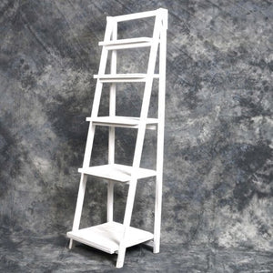 Vintage Style Wooden 5 Shelf Storage in White