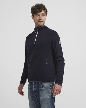 Bengt Navy T-neck Windproof
