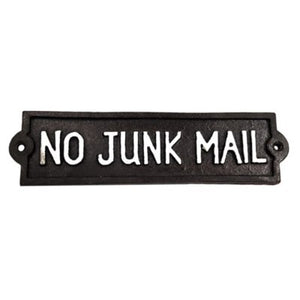 No Junk Mail Plaque