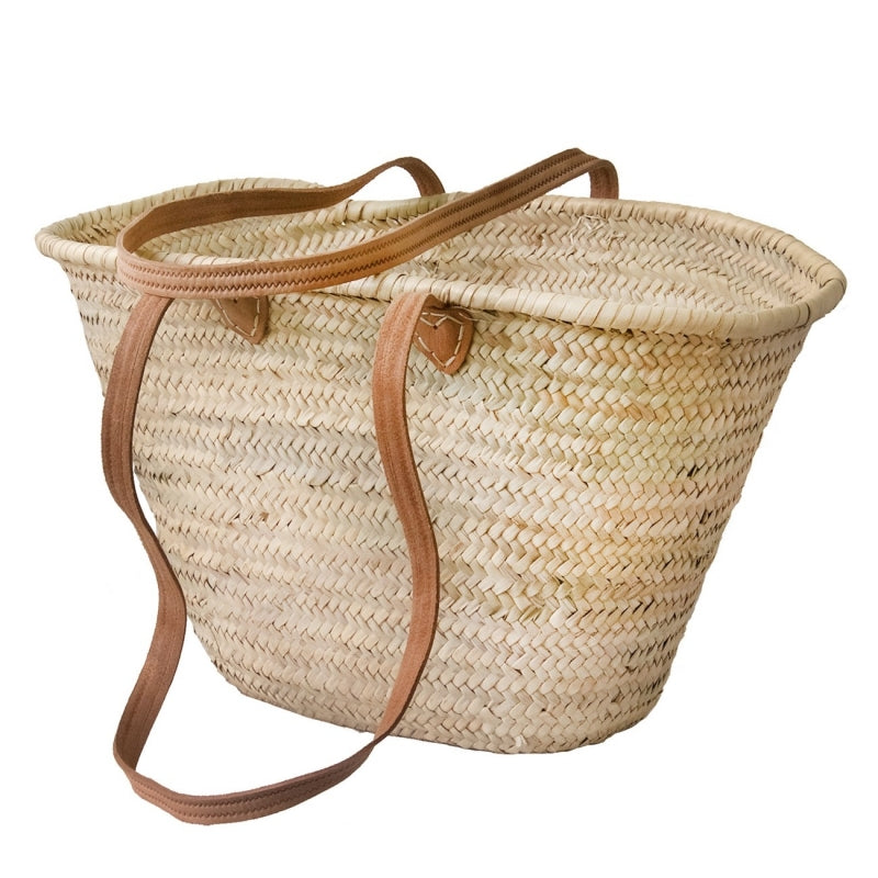 French Market Basket with Long Handles