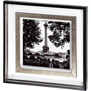 Street Cafe in the Rain, Colonne de Juillet Framed Print