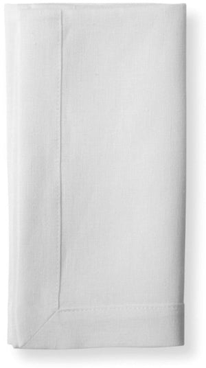 100% Pure Belgian Linen Mitered Hem Napkins, set of four
