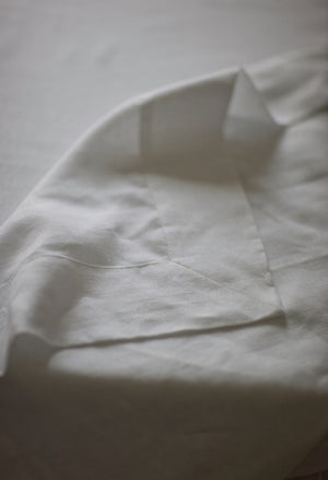 100% Pure Belgian Linen Mitered Hem Tablecloth