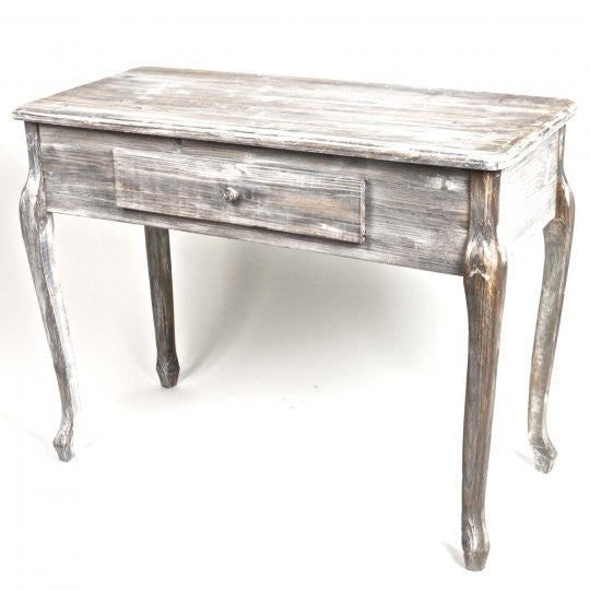 Vintage Style Greywashed Console Table