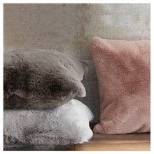 Load image into Gallery viewer, Blush Faux Fur Cushion