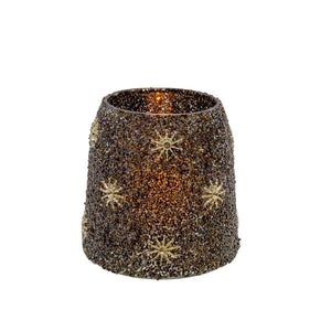Starry Night Votive Holder - Black