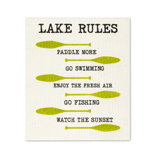 Load image into Gallery viewer, Swedish Dishcloth - Lake Rules