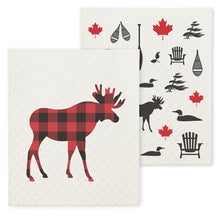 Load image into Gallery viewer, Swedish Dishcloth - Cottage Moose