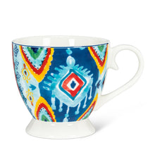 Load image into Gallery viewer, Blue Geometric Pedestal Cup