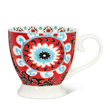 Load image into Gallery viewer, Red Mandala Pedestal Cup