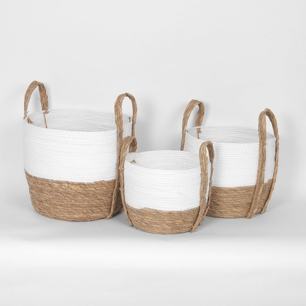 White & Natural Basket