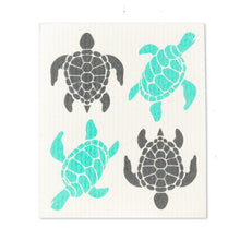 Load image into Gallery viewer, Swedish Dishcloth - Sea Turtles