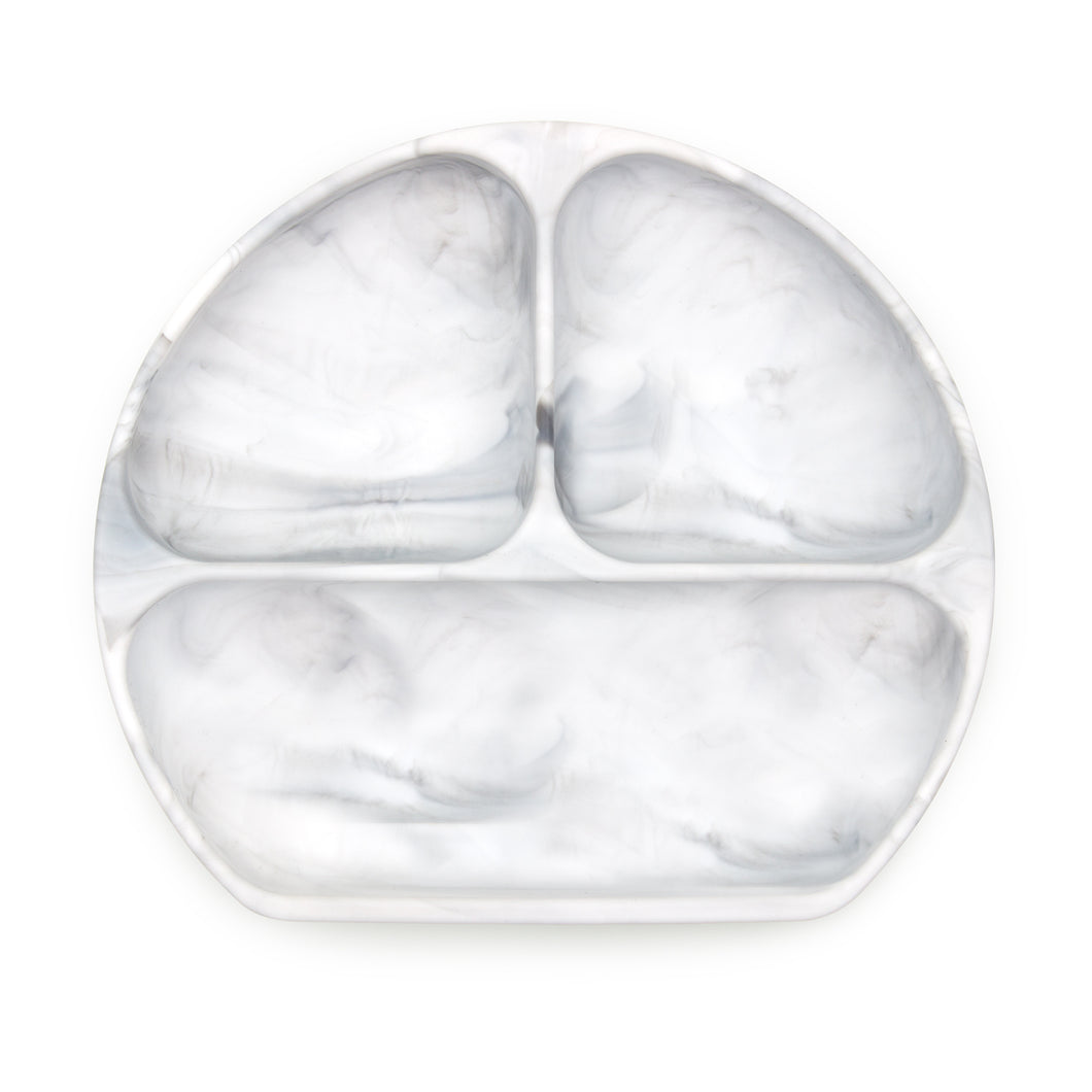 Silicone Grip Dish - Marble