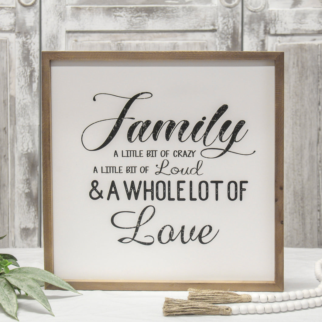 Family Love Sign