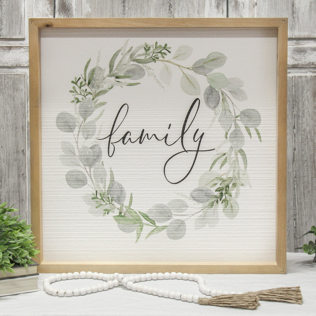 Family Wreath Sign