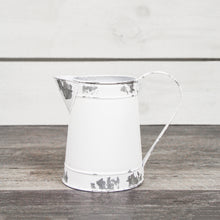 Load image into Gallery viewer, White Metal Pitcher, Small