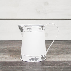 White Metal Pitcher, Small