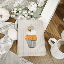 Load image into Gallery viewer, Stacked Pumpkins Embroidered Dishtowel
