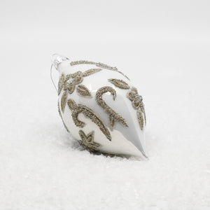 Assorted White Glass Ornaments