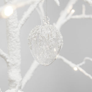 Glass Acorn Ornament