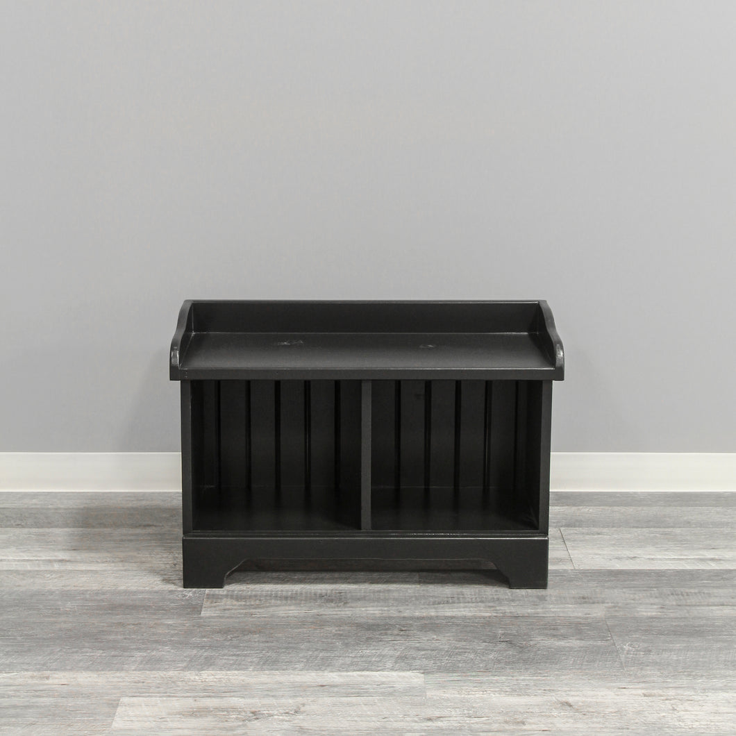 2-Cube Cubby Bench | Black