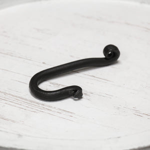 Hand Forged Curl Stem Hook