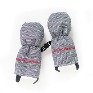 Winter Mitts - Herringbone Grey