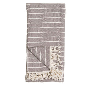 Turkish Towel - Striped/Slate