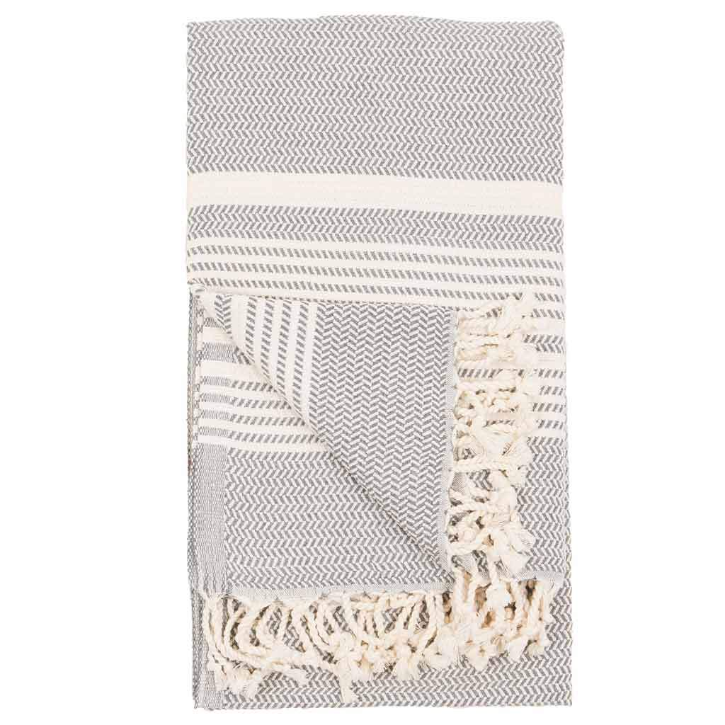 Turkish Towel - Hasir/Slate