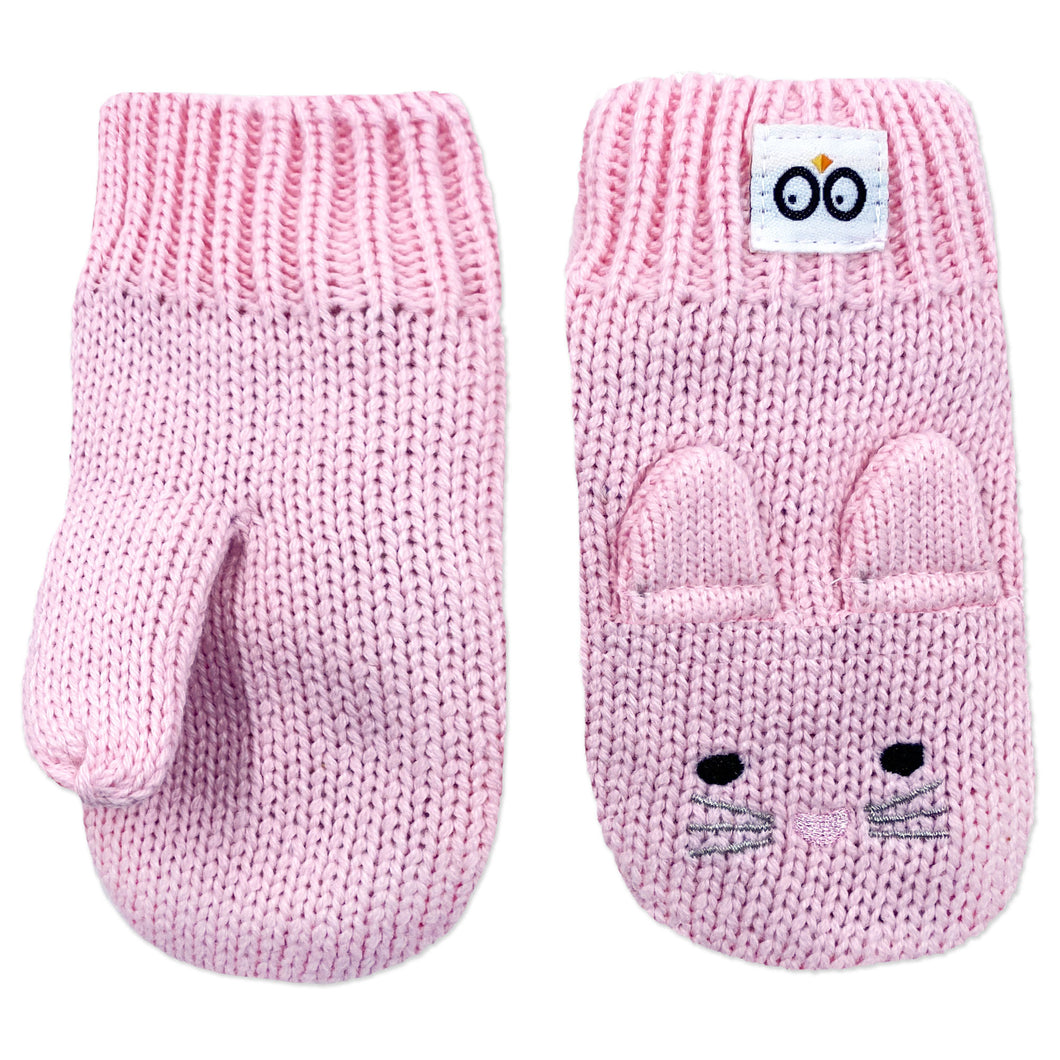 Knit Mittens - Beatrice the Bunny