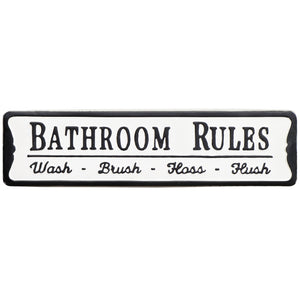 Horizontal Bathroom Rules Signs