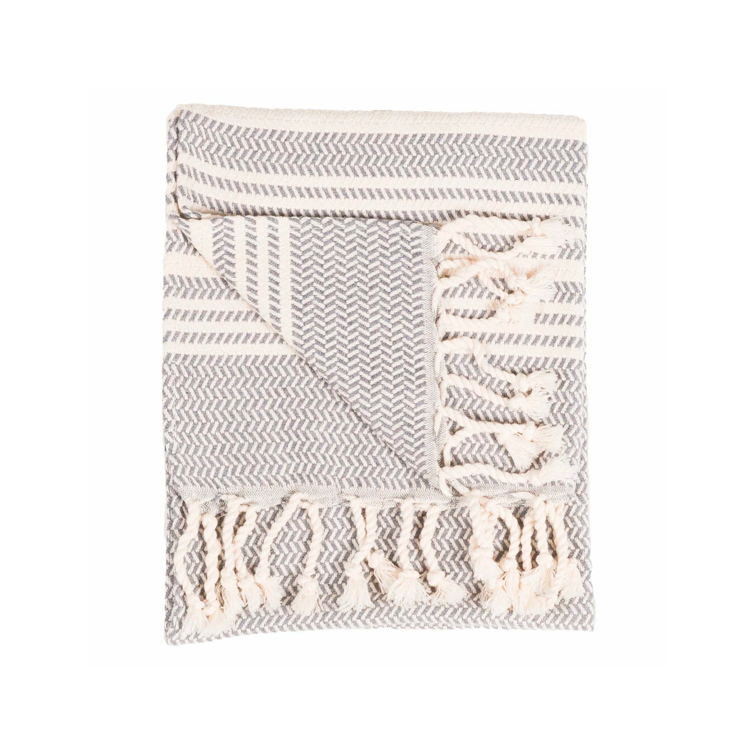 Turkish Hand Towel - Hasir/Slate