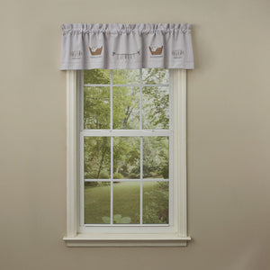 Laundry Embroidered Lined Valance