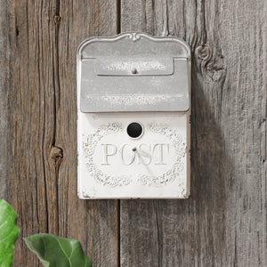 White Vintage Style Post Box