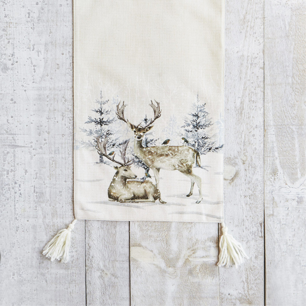 Reindeer in the Forest Table Runner