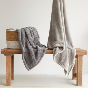 Sherpa Charcoal Throw