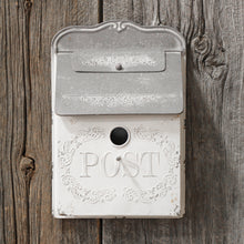 Load image into Gallery viewer, White Vintage Style Post Box