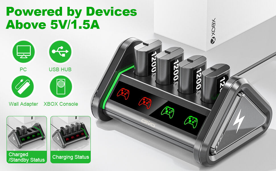 4 battery packs for xbox series