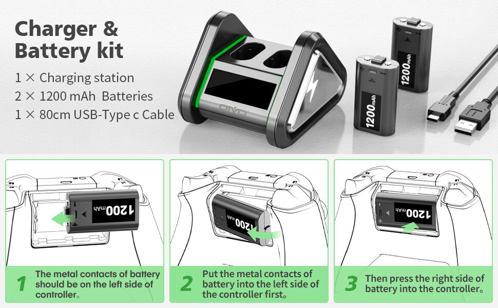Xbox battery pack&charger station